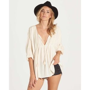 Billabong Gold Dust Top Embroidered Tunic